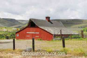 Red Barn with Shake Roof